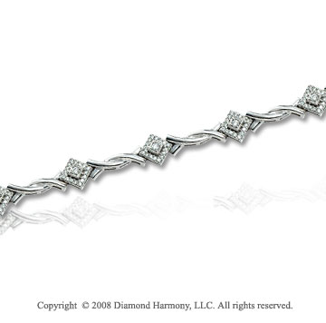 1/2 Carat Diamond 14k White Gold Fashion Bracelet