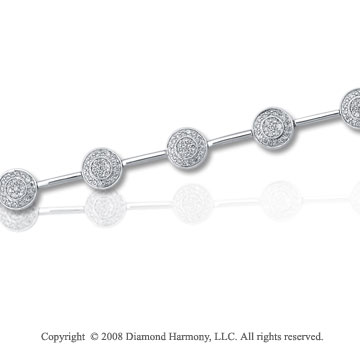 1 Carat Diamond 14k White Gold Fashion Bracelet