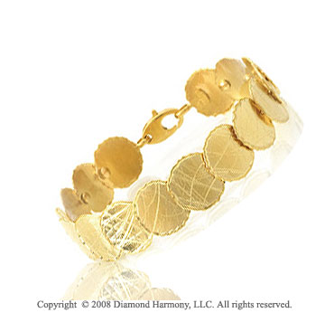 14k Yellow Gold Medallion Bracelet