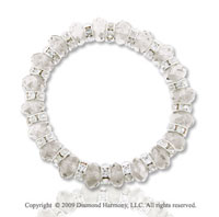 Fashionable Clear Faceted Crystal Bracelet