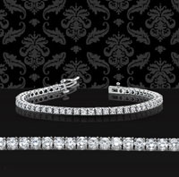 6 Carat Diamond 14k White Gold Tennis Bracelet