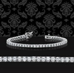 10 Carat Diamond 14k White Gold Tennis Bracelet