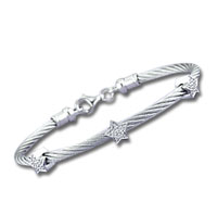 Stainless Steel Diamond Star Bracelet