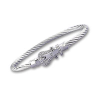 Stainless Steel Diamond Buckle Bracelet