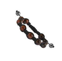 10mm Red Tiger's Eye Shamballa Bracelet