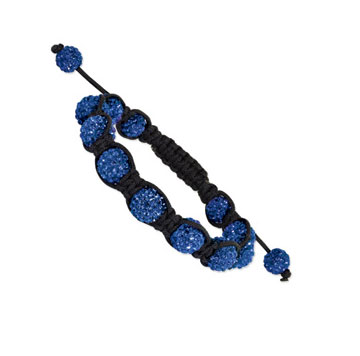 10mm Royal Blue Crystal Shamballa Bracelet