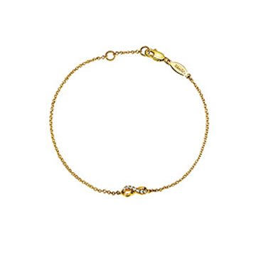 14k Yellow Gold Diamond Infinity Bracelet