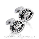 Deadly Creatures' Scorpion Sterling Silver Cufflinks