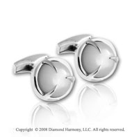 Sterling Silver Eagle Mother of Pearl Cabochon Cufflinks
