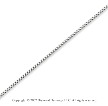 14k White Gold Ultra Thin 0.60mm Classic Box Chain