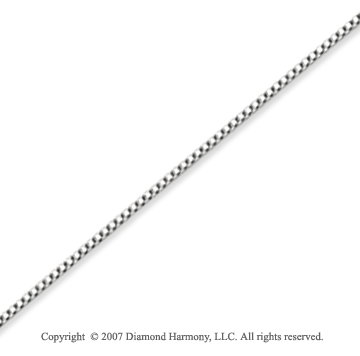 14k White Gold Super Thin 0.70mm Classic Box Chain