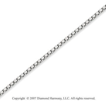 14k White Gold Stylish Sexy 1.00mm Classic Box Chain