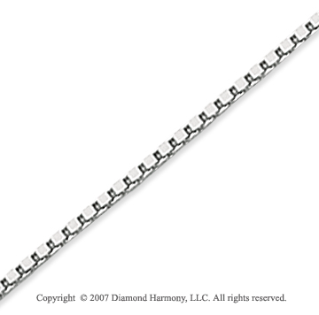 14k White Gold Stylish Sexy 1.40mm Classic Box Chain