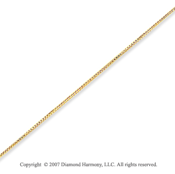 14k Yellow Gold Ultra Thin 0.45mm Classic Box Chain