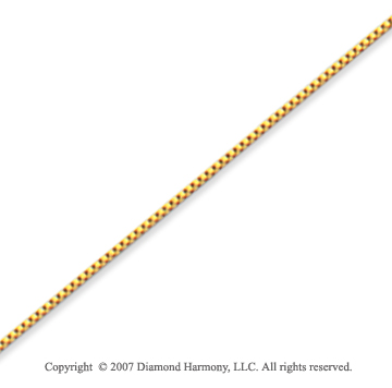 14k Yellow Gold Super Thin 0.70mm Classic Box Chain