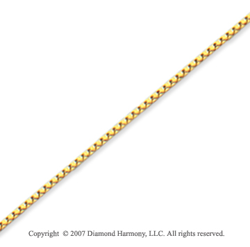 14k Yellow Gold Super Thin 0.80mm Classic Box Chain