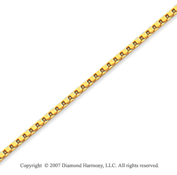 14k Yellow Goldold Stylish Regular 1.20mm Classic Box Chain