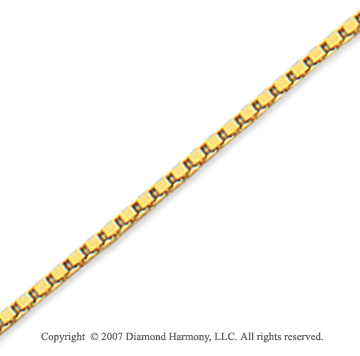 14k Yellow Goldold Stylish Regular 1.40mm Classic Box Chain
