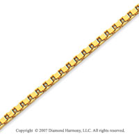 14k Yellow Goldold Stylish Regular 1.70mm Classic Box Chain
