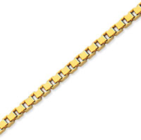 14k Yellow Gold Stylish Medium 2.00mm Classic Box Chain