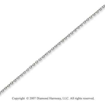 14k White Gold Stylish Ultra Thin 0.60mm Cable Link Chain