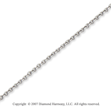 14k White Gold Stylish Thin 1.10mm Cable Link Chain