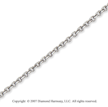 14k White Gold Stylish Thin 1.50mm Cable Link Chain