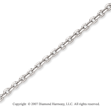 14k White Gold Stylish Sexy 1.90mm Cable Link Chain