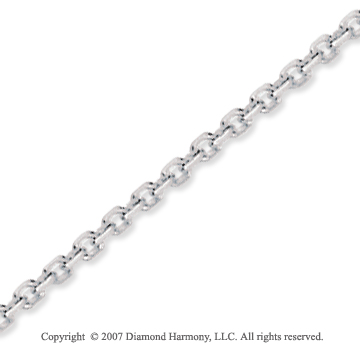 14k White Gold Stylish Sexy 2.30mm Cable Link Chain