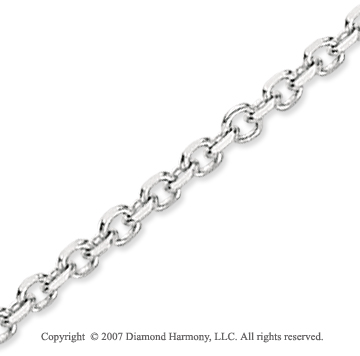 14k White Gold Stylish Sexy 3.10mm Cable Link Chain