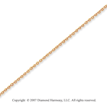 14k Yellow Goldold Elegant Ultra Thin 0.60mm Cable Link Chain