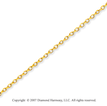 14k Yellow Gold Elegant 1.10mm Cable Link Chain