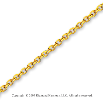 14k Yellow Gold Stylish Medium 1.90mm Cable Link Chain