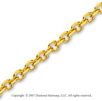 14k Yellow Gold Stylish Wide 3.10mm Cable Link Chain