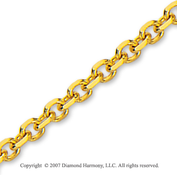 14k Yellow Gold Extra Wide 4.00mm Cable Link Chain