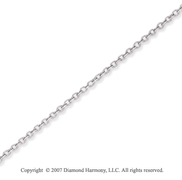 14k White Gold Elegant Thin 1.10mm Cable Link Chain