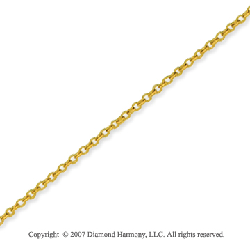 14k Yellow Gold Elegant Thin 1.10mm Cable Link Chain