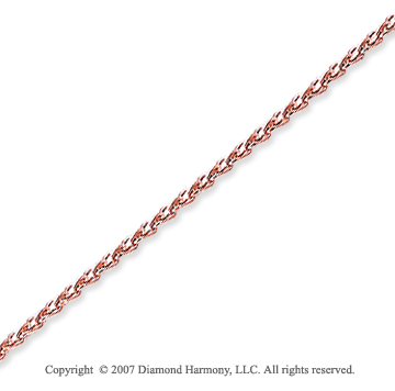 14k Rose Gold Elegant Medium 1.40mm Round Wheat Chain
