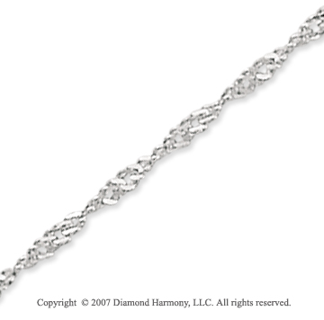 14k White Gold Classic Style Wide 2.1mm Singapore Chain