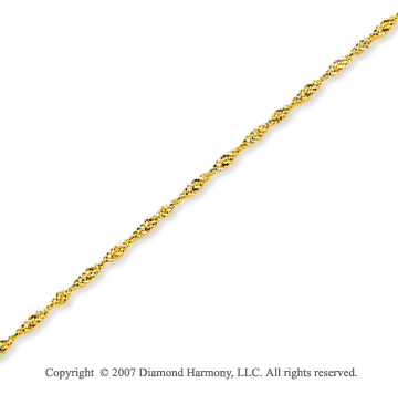 14k Yellow Gold Stylish Thin 0.80mm Singapore Chain