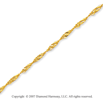 14k Yellow Gold Stylish Medium 1.00mm Singapore Chain