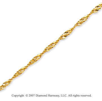 14k Yellow Gold Stylish Medium 1.50mm Singapore Chain