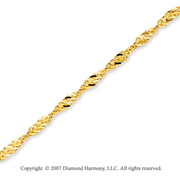 14k Yellow Gold Stylish Medium 1.70mm Singapore Chain