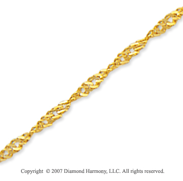 14k Yellow Gold Stylish Wide 2.1mm Singapore Chain