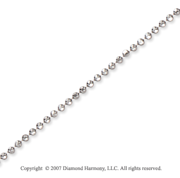 14k White Gold Elegant Style Medium 1.20mm Bead Chain