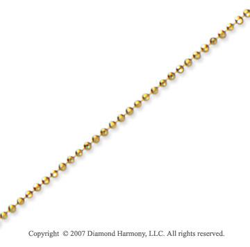 14k Yellow Gold Elegant Style Medium 1.00mm Bead Chain