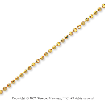 14k Yellow Gold Elegant Style Medium 1.20mm Bead Chain
