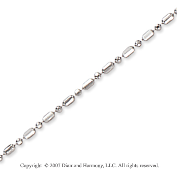 14k White Gold Classic Style Medium 1.20mm Bead Chain