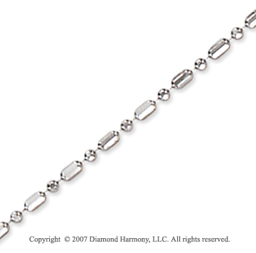 14k White Gold Elegant Style Medium 1.50mm Bead Chain