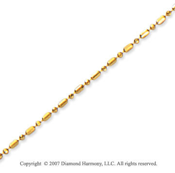 14k Yellow Gold Classic Style Medium 1.00mm Bead Chain